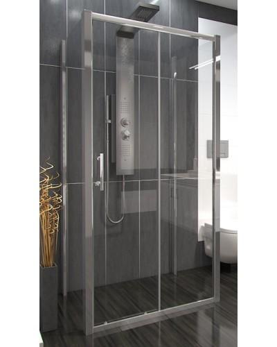 NICOL COMBI II 90x130x90 Clear Well Sprchový kout nástěnný