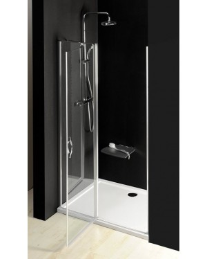 GO4413D Gelco Sprchové dveře jednodílné s pevnou částí otočné - sklo čiré