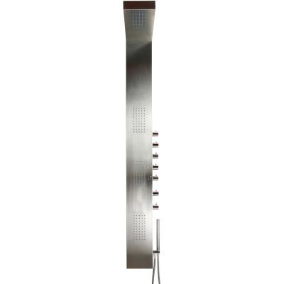 ARGES 160 x 49 Teiko  Masážní sprchový panel - matný chrom