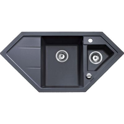00088937 ASTRAL 80 E-TG Dřez tegranit - černá metalická