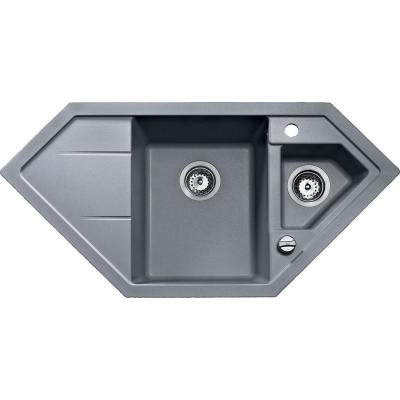 00088935 ASTRAL 80 E-TG Dřez tegranit - hliníkově šedá