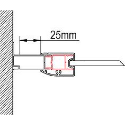 ACT1 1898 04 Sanswiss Rozšiřovací profil o 25 mm, výška 1898 mm, bílá