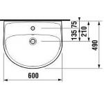 JIKA LYRA PLUS H8143830001041 Umyvadlo 60×49 cm s otvorem