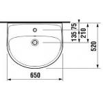 JIKA LYRA PLUS 8.1438.4.000.109.1 Umyvadlo 65×52 cm bez otvoru