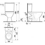Jika LYRA PLUS 8.2638.4.000.242.3 WC kombi zadní šikmý - hluboké splach., spodní napouště