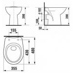 Jika ZETA 8.2239.6.000.000.1  WC mísa zadní - hluboké splachování