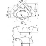 ATHÉNA 150×150 Vagnerplast Vana rohová s podporou