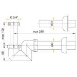 A45F/40 Sifon pro bidet