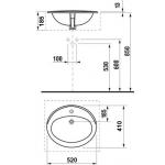 JIKA IBON 8.1301.0.000.104.1 Umyvadlo zápustné 52×41 cm