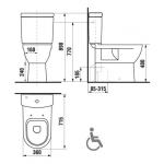 Jika MIO H8247160000001 WC kombi mísa zvýšená 50 cm