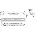 APZ104-1150 AlcaPlast Liniový podlahový žlab FLEXIBLE LOW pod libovolný obklad