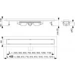 APZ106-850 Liniový podlahový žlab LOW pro plný rošt