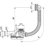 A507KM AlcaPlast Vanový odtokový komplet click clack kov chrom