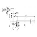 AKS2 Sifon pro odkapávající kondenzát bílá