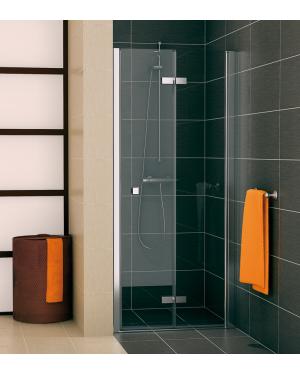 SLF1D 0900 50 07 SanSwiss Sprchové dveře dvoudílné skládací 90 cm pravé