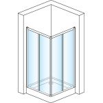 ECOAC 0800 04 07 SanSwiss Sprchový kout čtvercový 80×80 cm