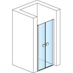 SL2 0800 50 07 SanSwiss Sprchové dveře dvoukřídlé 80 cm