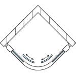 TOPR 50 0800 50 07 SanSwiss Sprchový kout čtvrtkruhový 80×80 cm