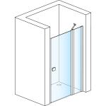 SL13 0800 50 07 SanSwiss Sprchové dveře jednokřídlé s pevnou stěnou 80 cm