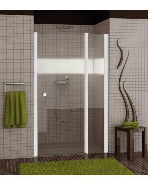 SL13 0800 04 07 Sprchové dveře jednokřídlé s pevnou stěnou 80 cm
