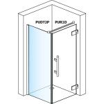 PUR1D 0900 10 07 SanSwiss Jednokřídlé dveře 90 cm pravé