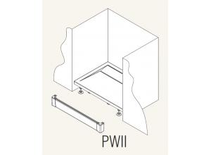 PWII 090 04 SanSwiss Přední panel hliníkový pro čtvercovou vaničku 90 cm - bílý
