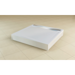 PWII 100 04 SanSwiss Přední panel hliníkový pro čtvercovou vaničku 100 cm - bílý