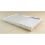 PWIU 80 100 80 50 SanSwiss Panel U hliník pro obdélníkovou vaničku 80×100cm - aluchrom
