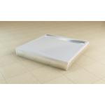 PWIL 090 090 50 SanSwiss Přední panel L hliník pro čtvercovou vaničku 90×90 cm - aluchrom
