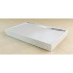 PWIU 70 090 70 04 SanSwiss Panel U hliníkový pro obdélníkovou vaničku 70×90 cm - bílý