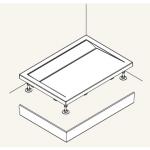 PWIU 90 120 90 50 SanSwiss Panel U hliník pro obdélníkovou vaničku 90×120cm - aluchrom