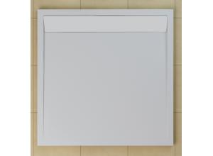 WIQ 100 04 04 SanSwiss Sprchová vanička čtvercová 100×100 cm bílá, kryt bílý