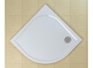 WMR 55 0900 04 SanSwiss Sprchová vanička čtvrtkruhová 90×90 cm - bílá