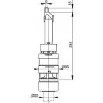 A07 AlcaPlast Vypouštěcí ventil pro nízko položenou nádrž A93