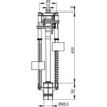 A09A AlcaPlast Vypouštěcí ventil pro Slimbox