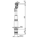 A09B AlcaPlast Vypouštěcí ventil pro Slimbox