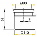 M907 Redukce komplet 90/110