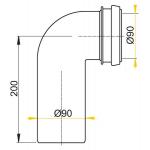 M908 Koleno odpadu komplet 90/90