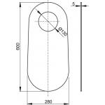 M920 Izolační deska pro stojící WC a bidet
