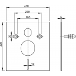 M930CR Izolační deska pro závěsné WC a bidet s příslušenstvím a krytkou