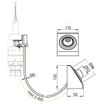 MPO13 Oddálené pneumatické splachování nožní na zeď kov
