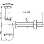 A430 Sifon pro umyvadlo s převlečnou maticí 5/4˝