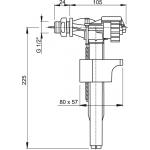 A15P 1/2˝ AlcaPlast Napouštěcí ventil boční