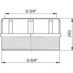 S556 AlcaPlast Redukce 6/4˝×5/4˝