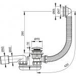 A503KM Sifon vaničkový s přepadem click clack chrom