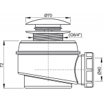 A465/50 AlcaPlast Odtoková souprava click - clack pr.50mm