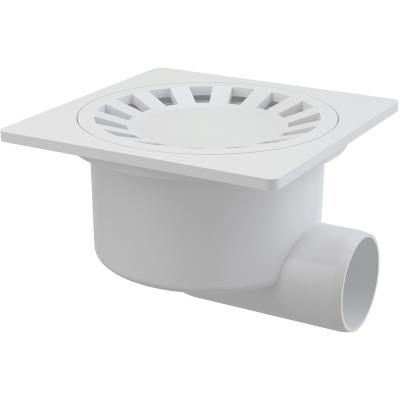 APV15 Podlahová vpusť boční bílá150×150/50