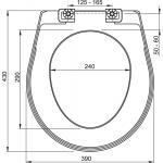 A3551 WC sedátko plast AlcaPlast