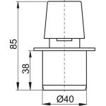 APH40 Přivzdušňovací hlavice  pr.40mm