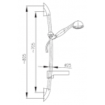 841-340-00 TYTAN Armatura sprchový komplet - chrom